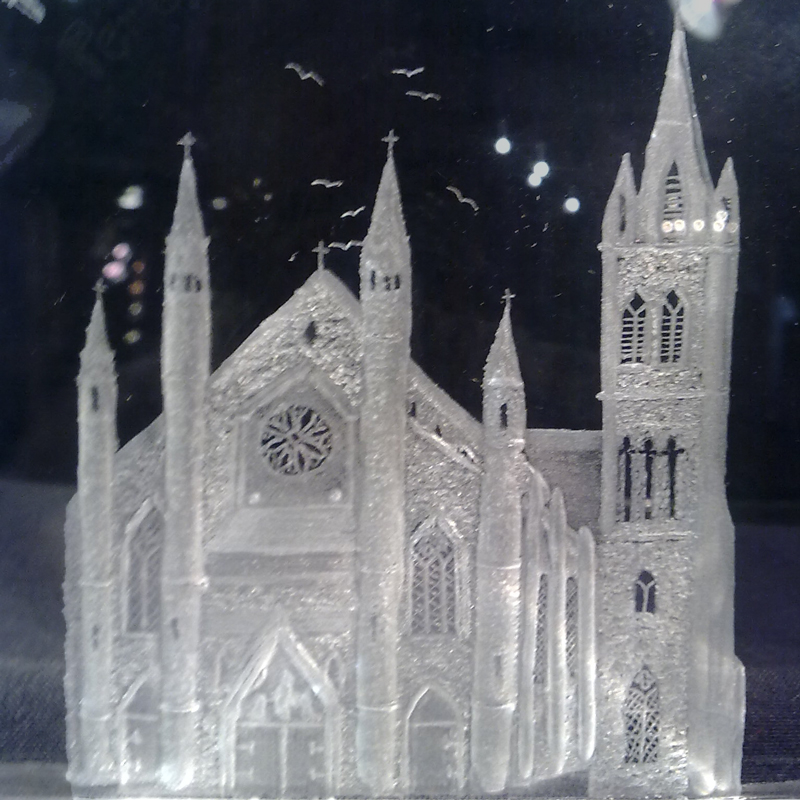 Irish Church Glass Piece