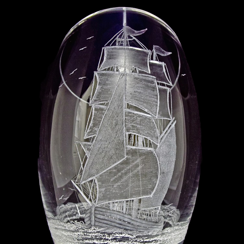 Tall lShip Glass Piece